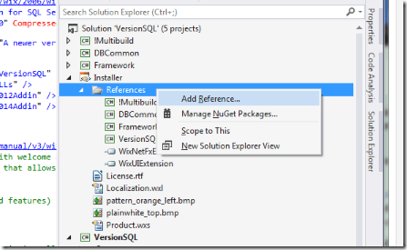 Use WiX Toolset to Install SSMS 2008R2/2012/2014 Add-Ins